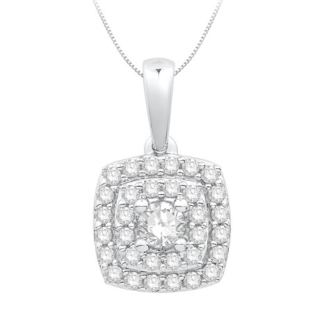 Pendant with 0.34 Carat TW of Diamonds in 10kt White Gold