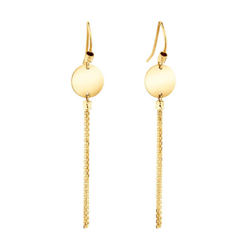 Tassle Drop Earrings in 10kt Yellow Gold
