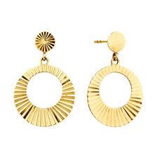 Circle Drop Earrings in 10kt Yellow Gold