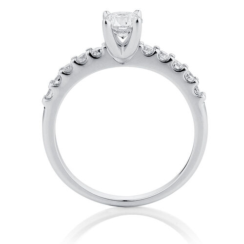 Online Exclusive - Engagement Ring with 3/4 Carat TW of Diamonds in 14kt White Gold