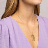 Large Dog Tag Pendant in 10kt Yellow Gold