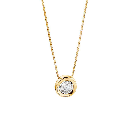 Pendant with a 1/4 Carat TW Diamond in 10kt Yellow Gold