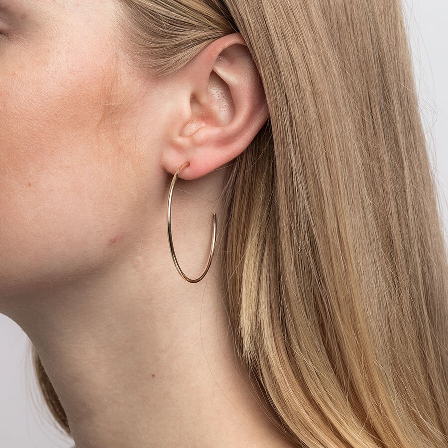 43mm Hoop Earrings In 10kt Yellow Gold