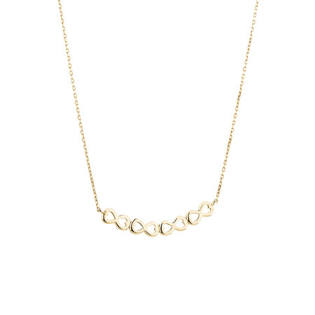 Infinity Link Necklace in 10kt Yellow Gold