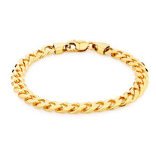 "23cm (9.5"") Curb Bracelet in 10kt Yellow Gold"