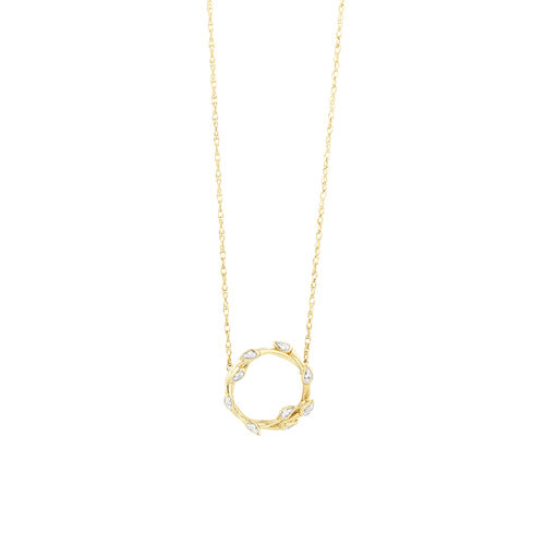 Willow Necklace With Diamonds In 10kt Yellow Gold