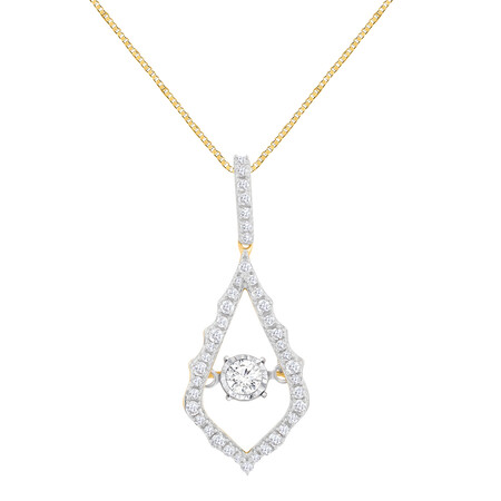 Everlight Pendant With 1/4 Carat TW Of Diamonds In 10kt Yellow Gold