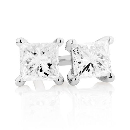 Stud Earrings with 0.30 Carat TW of Diamonds in 10kt White Gold