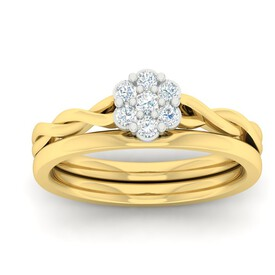 Bridal Set with 0.25 Carat TW of Diamonds in 10kt Yellow Gold