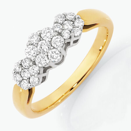 Online Exclusive - Engagement Ring with 1/2 Carat TW of Diamonds in 18kt Yellow & White Gold