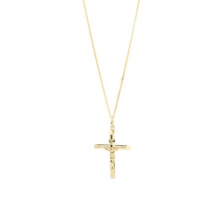 Crusifix Cross Pendant in 10kt Yellow Gold