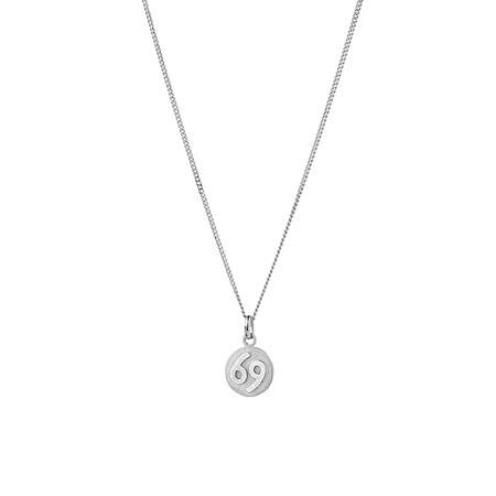 Cancer Zodiac Pendant in Sterling Silver