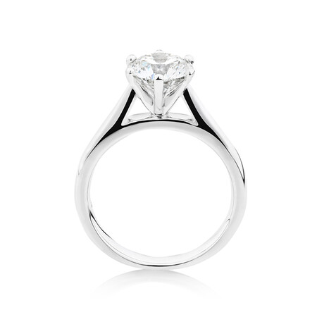 2 Carat Solitiare Ring in 14kt White Gold