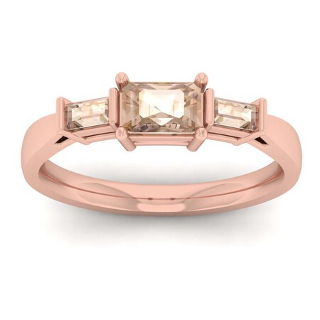 Ring with Morganite in 10kt Rose Gold