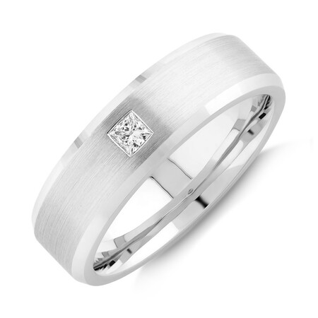 Men's Ring with 0.15 Carat TW of Diamonds in 10kt White Gold