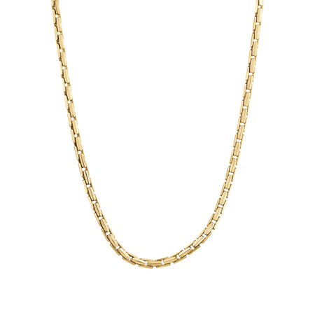 Box Link Necklace in 10kt Yellow Gold
