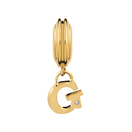 Diamond Set & 10kt Yellow Gold 'G' Charm
