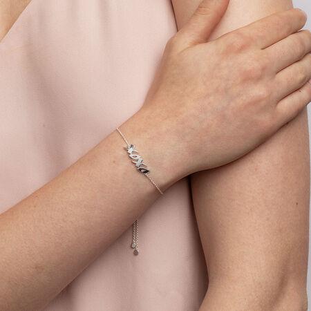 """""""XOXO"""" Bracelet in Sterling Silver"""