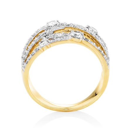 1 Carat TW of Diamonds Ring in 10kt Yellow Gold