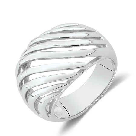 Large Swirl Ring in Sterling Silver