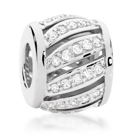1/4 Carat TW Diamond Patterned Charm