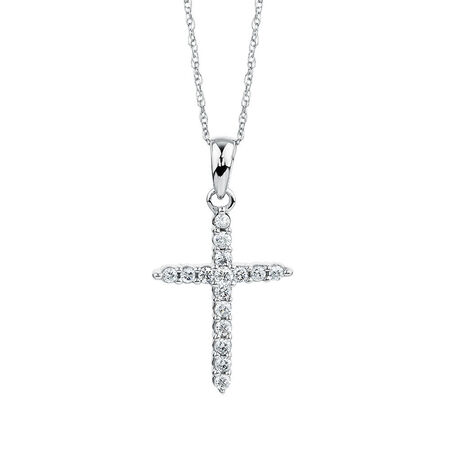 Pendant with 0.15 Carat TW of Diamonds in 10kt White Gold