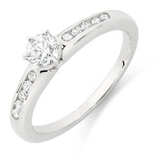 Online Exclusive - Engagement Ring with 1/2 Carat TW of Diamonds in 18kt White Gold