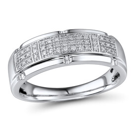 Ring with 0.13 Carat TW of Diamonds in 10kt White Gold