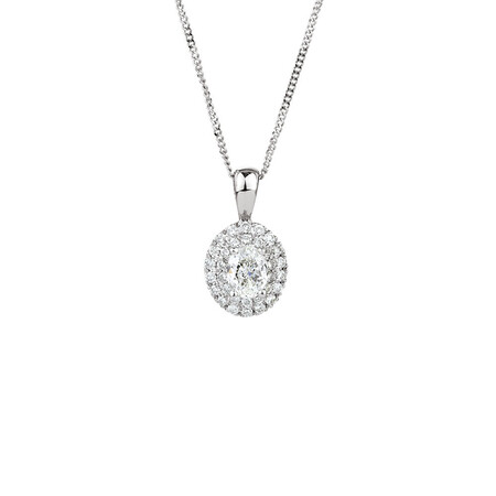 Pendant with 0.28 Carat TW of Diamonds in 10kt White Gold