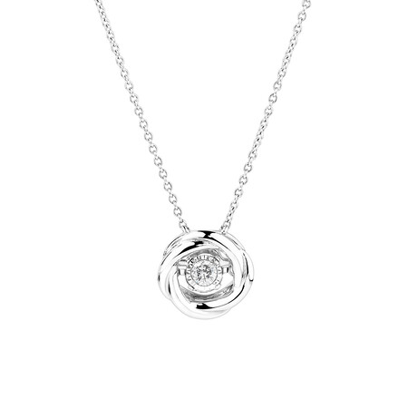 Twist Everlight Pendant with Diamonds in Sterling Silver