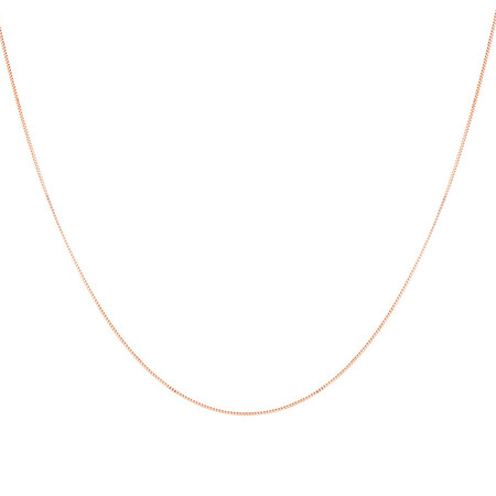 """55cm (22"""") Box Chain in 10kt Rose Gold"""