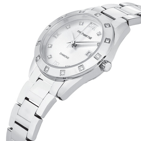 Ladies Watch with Diamonds in Stainless Steel