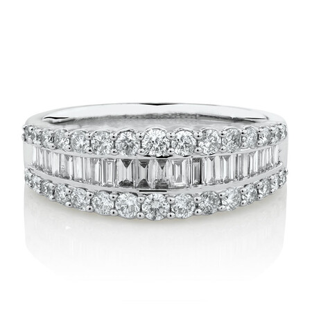 Ring with 1 Carat TW of Diamonds in 14kt White Gold