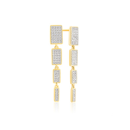 Drop Earrings With 1/5 Carat TW Of Diamonds In 10kt Yellow Gold