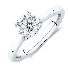 Southern Star Solitaire Engagement Ring With 1 1/4 Carat TW Of Diamond In 14kt White Gold
