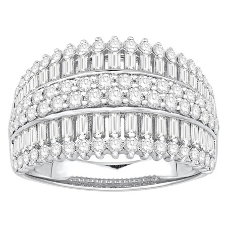 Ring with 1.50 Carat TW of Diamonds in 14kt White Gold