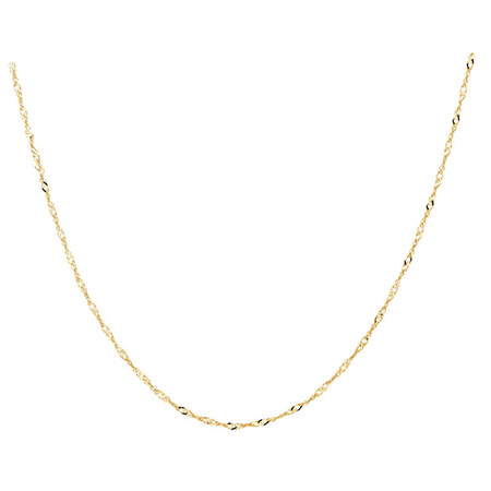"50cm (20"") Diamond Cut Singapore Chain in 14kt Yellow Gold"