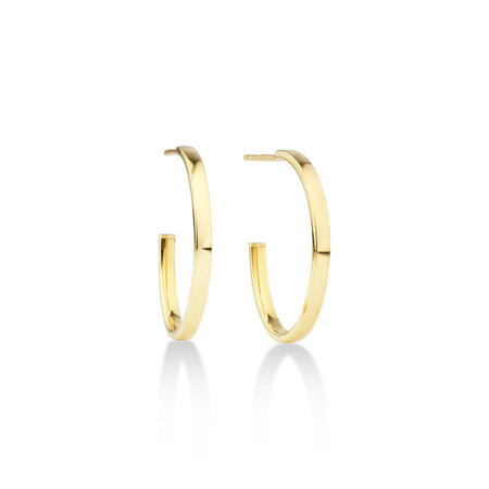 Half Hoop Stud Earring in 10kt Yellow Gold