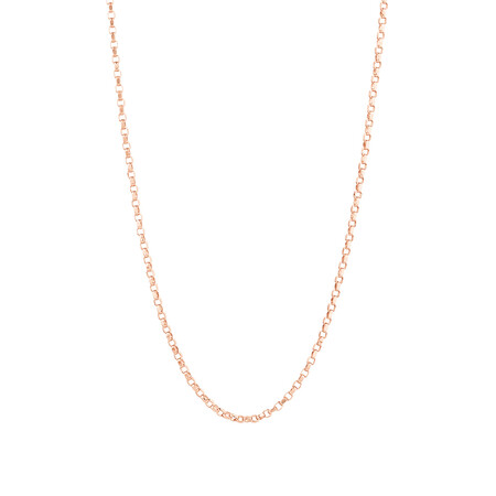 "40cm (16"") Rolo Chain in 10kt Rose Gold"