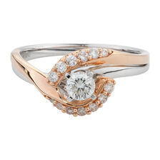 Online Exclusive - Engagement Ring with 1/2 Carat TW of Diamonds in 14kt White & Rose Gold