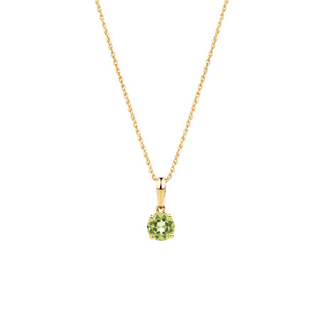 Pendant with Peridot in 10kt Yellow Gold