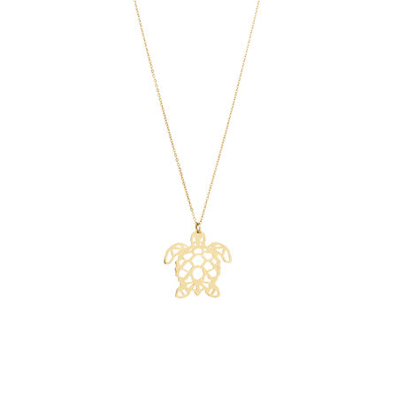 Turtle Pendant in 10kt Yellow Gold