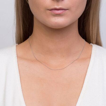 "40cm (16"") Rolo Chain in 10kt White Gold"