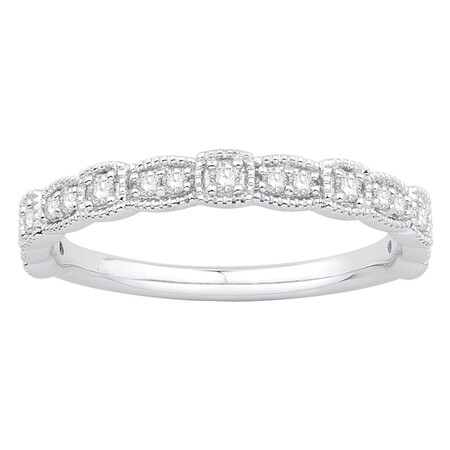 Ring with 0.20 Carat TW of Diamonds in 10kt White Gold