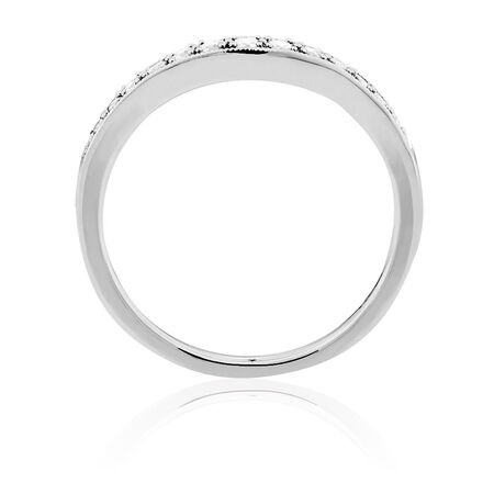 Wedding Band with 0.17 Carat TW of Diamonds in 18kt White Gold