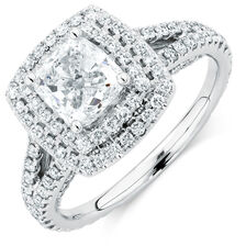 Sir Michael Hill Designer GrandArpeggio Engagement Ring with 2.45 Carat TW of Diamonds in 14kt White Gold