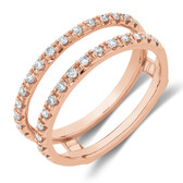 Enhancer Ring With 1/4 Carat TW Of Diamonds In 10kt Rose Gold