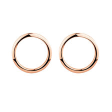 Open Circle Stud Earrings in 10kt Rose Gold