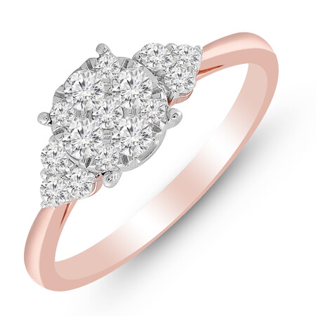 Ring with 1/2 Carat TW of Diamonds in 10kt Rose & White Gold