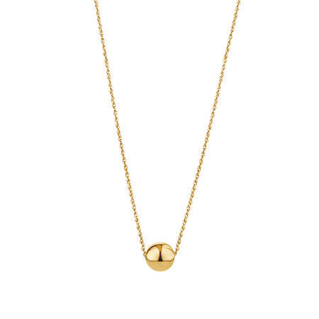 "45cm (18"") 8mm Ball Necklace in 10kt Yellow Gold"